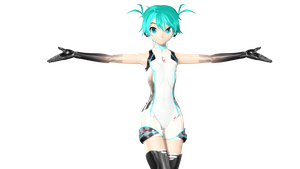 MMD DT Race Miku 2011 v2 wip by willianbrasil
