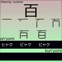 Kanji - Hundred by LearningJapanese