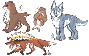 random canine critters by emlan