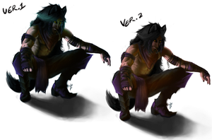 Wolf Night by PaintedKing