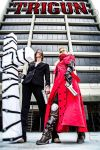 Vash the Stampede and Wolfwood - Rule 63 Cosplay by JohnsonArms