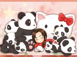 Panda dream by BlackLadySango