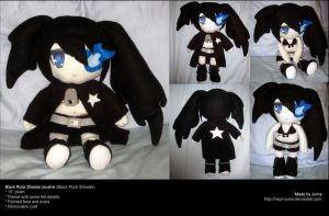 Black Rock Shooter plushie 3 by Neon-Juma