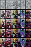Fembot Portraits - WP by silverteahouse
