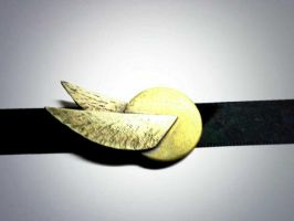 Golden Snitch Necklace by SolarLunix