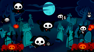 Skelanimals- Graveyard Desktop by Yabun-Ookami