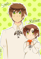 [APH] Boss Spain and Chibi Romano by THE-L0LLIP0P