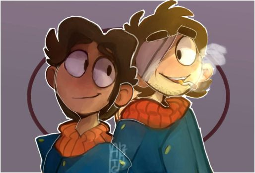 Paul and Patryck - Eddsworld by Puijela10