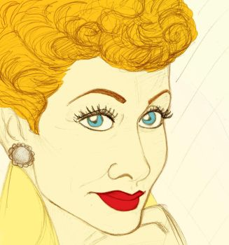 Lucille Ball by clwnprincessofcrime