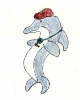 Dolphin with the Hat by Traxer