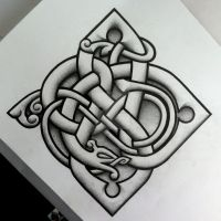Urnes influenced logo and tattoo design by Tattoo-Design