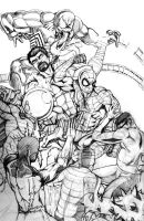Sinister Six Pencils by thelearningcurv