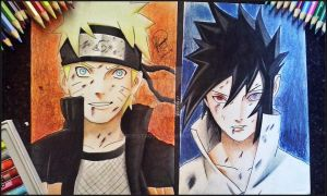 Naruto and Sasuke by Ronstadt