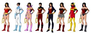 Wonder Women (based on Phil Bourassa's work) by Majinlordx