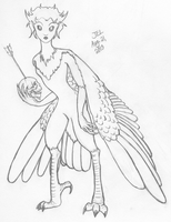 Harpy uncolored by NetherStray