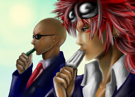 The day off ~Reno and Rude by Ueki2013