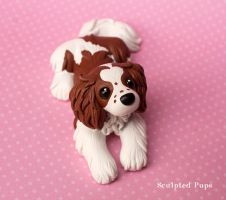 Piper the Cavalier King Charles Spaniel commission by SculptedPups