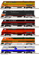 Freelance Railroad P40 Paint Schemes #3 by Pb1kenobi