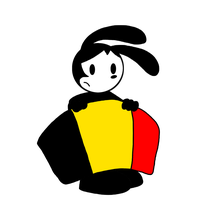 Oswald with Flag of Belgium by MarcosPower1996