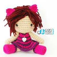 Cheshire Cat Inspired Crochet Amigurumi Plush Doll by CyanRoseCreations