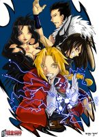 Full Metal Alchemist color by Guga-kun