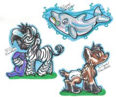 Baby gift tags by Kay-Kitten