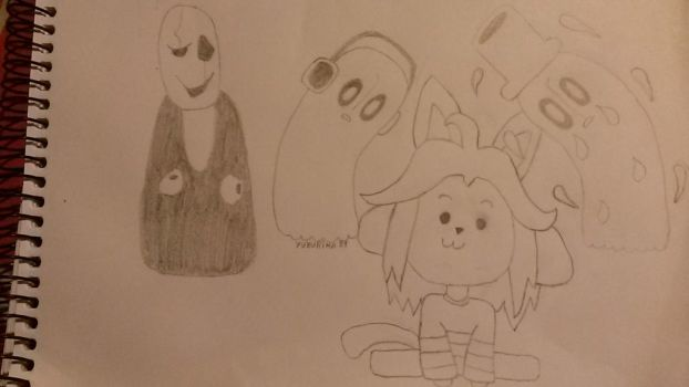 Undertale sketches by Kitty-kitsune-chan