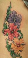Hibiscus Flower Tattoo by Phedre1985