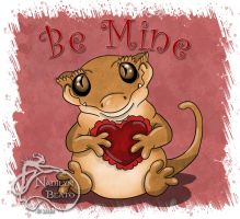 Be Mine Crested Gecko by NadilynBeato