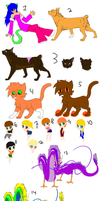 Left Over Adoptables by Animal-Adopts