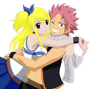 Natsu y Lucy by Palomeitor