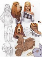 girl and dog study by CapAmerica13