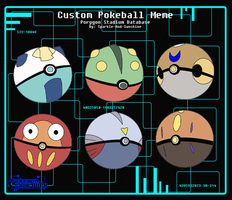 Azuru's - Custom Pokeballs by libra98