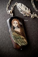 my wings (stone painting) by SBreez
