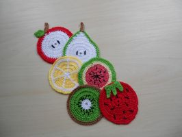 Fruit coasters by TheSewingBox