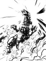 GODZILLA...KING OF THE MONSTER by kenknudtsen