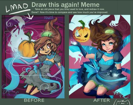 Before and after meme thing?! by ReDeadOrian