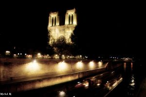 Notre-Dame at night by Schuma