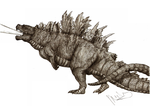 Kaiju revised Godzilla by Teratophoneus