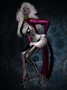 Lady Death pinup by blinded-dinosaur