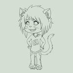 Chibi for FlakyRock - Lineart by SweetDuke