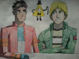 Rex, Noah, and Bill Cipher by AngeloCN