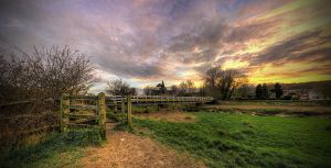 Sunset Bridge by wreck-photography