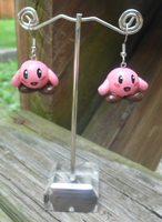 Hand-Painted Kirby Earrings by oh-sew-fun