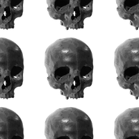 Seamless Skulls Texture (transparant background) by IdunaHaya-Stock