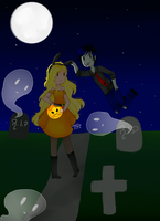 Speed Paint- Fiolee Happy Halloween by Titi-0910