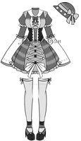 monochromatic Victorian Outfit3 Adoptable CLOSED by AS-Adoptables