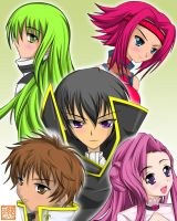 -Code Geass - group portrait by Wanganator