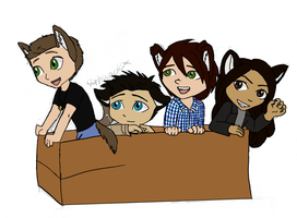 Supernatural characters in a box by Kitti47