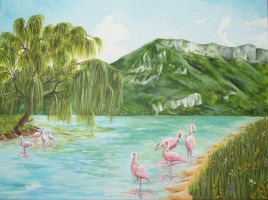Flamingo Lake by CaptainNatX